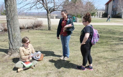 Good weather allows classes outdoors
