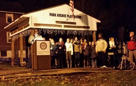 Pitt-Johnstown officials light up Moxham