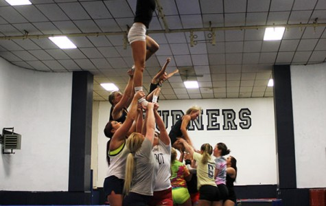 Cheerleaders compete for national prize