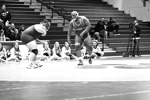 Pitt-Johnstown's No. 8 ranked heavy weight senior D.J. Sims defeated Ashland University's sophomore Deaken McCoy by a 7-3 decision to secure the Mountain Cats 24-16 victory Friday in the Sports Center.