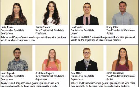 Student candidates detail platforms