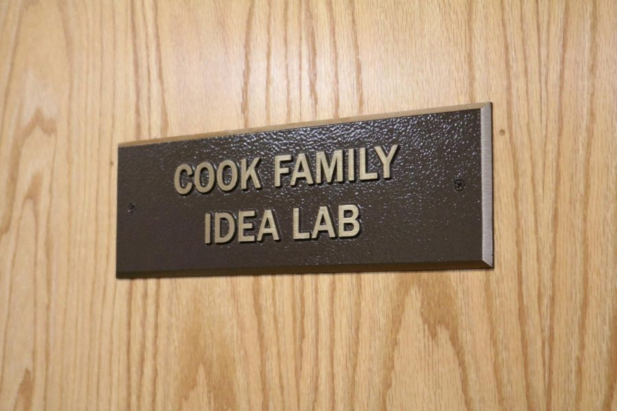 The+Cook+Family+Idea+Lab%2C+in+132+Biddle+Hall%2C+is+a+room+with+ample+whiteboard+space+for+students+to+develop+their+ideas.+