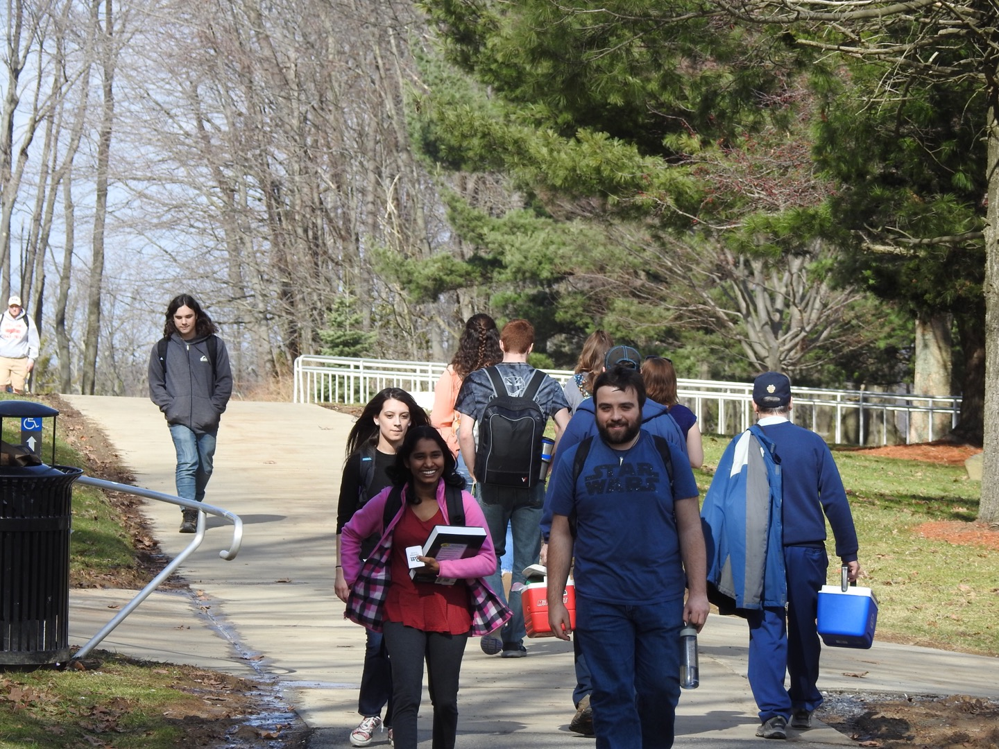 After the sidewalk and bike path connect project is completed, students are to be able to safely walk from campus to the Richland Town Centre.