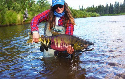 Environmentalist visits Alaskan bay