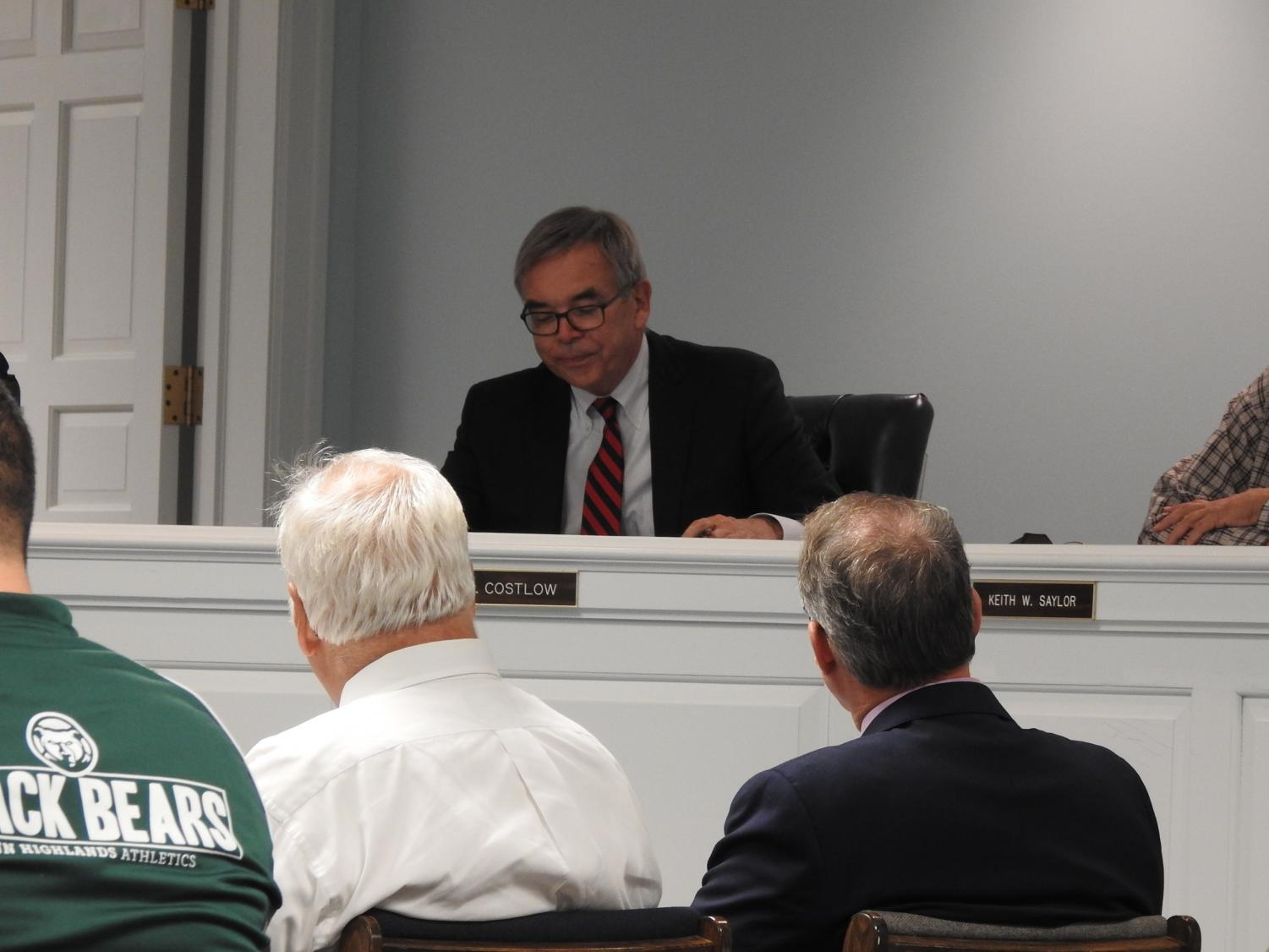 Richland Township supervisors' solicitor Gary Costlow at an Oct. 29 meeting.
